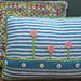 Striped Flower Pillow pattern
