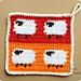Dancing Sheep Potholder pattern