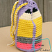 Dancing Pencils Drawstring Bag pattern