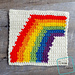 "8"" Tapestry Rainbow Afghan Square pattern"