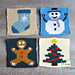 "Wonderful Winter 8"" Afghan Square 4-Pack pattern"