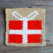 """8"""" Tapestry Present Afghan Square pattern"""