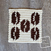 8″ Tapestry Coffee Beans Afghan Square pattern