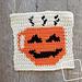 8″ Tapestry Coffee-O-Lantern Afghan Square pattern