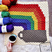 C2C Rainbow and Coffee Cup Afghan Square pattern