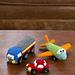 Happy Little Car, Plane & Truck pattern