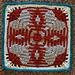 "HeartFelt Appreciation 12"" Afghan Block Square pattern"