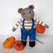 Pip the mouse and pumpkins pattern