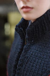 Swizzle Vest mock turtleneck with zip