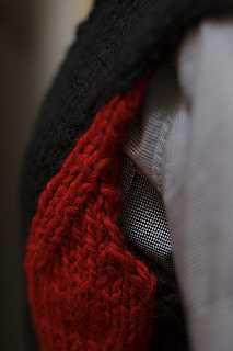 Swizzle Vest bust shaping detail