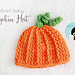 Newborn Baby Pumpkin Hat pattern