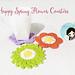 Happy Spring Flower Coasters pattern