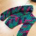 Diagonal Puff Stitch Scarf pattern
