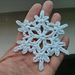 snowflake motif pattern