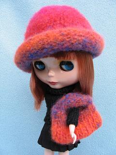 Blythe Felted Hat & Tote Bag