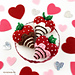 Chocolate-Dipped Strawberry Hearts pattern