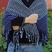 Dreamworld Scrap Shawl with Crocheted Fringe pattern
