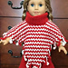 American Girl Doll Two-Color Poncho pattern