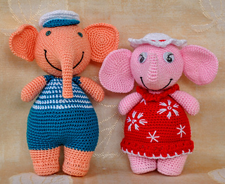 Ravelry: Josefina and Jeffery Chubby Little Elephants pattern by ... | 261x320