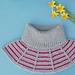 Rillestripehals / Garter Stripes Collar pattern