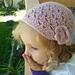 Easy Beanie Hat w/Flower pattern