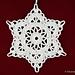 Christmas Tree Snowflake Ornament pattern