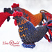 Rooster knitted toy pattern