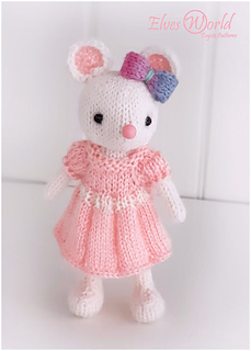 Baby girl mouse Valentine