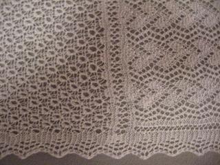 Shetland lace scarf