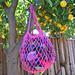 Linen Pouch Bag (Crochet or Knit) pattern