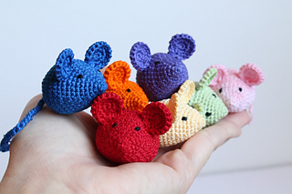 230 Crochet Pattern - Little Mouse with a Flower House - Amigurumi ... | 213x320