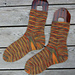 Grundmönster tunna sockor pattern