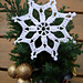 Starry Snowflake Christmas Ornament  pattern