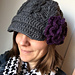 {chunky cable brimmed hat}  pattern