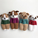 Furry Friends Puppy Dolls pattern