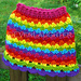 Colorful Waves Skirt pattern