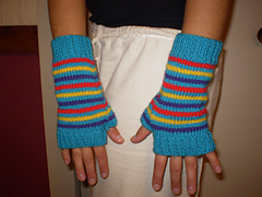 multi-color wrist warmers