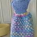 Let's Visit Switzerland Dress Dishcloth pattern