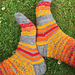 Swirls and Stripes socks pattern