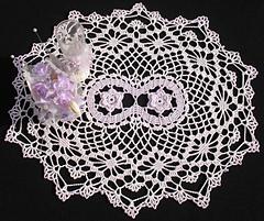 bruges lace floral doily