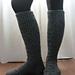 Chunky Knee-High Boot Sock pattern