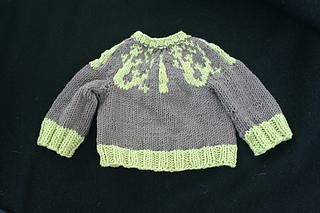 Lizard Swirl Baby Sweater - front