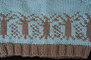 Trees baby sweater detail