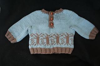 Trees baby sweater