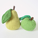 Apple and Pear pincushions pattern