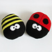 Ladybird and Bee Cushions pattern