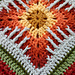 """Cat's Claw Afghan 12"""" or 10"""" block pattern"""