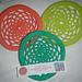Flying Doily Frisbee pattern