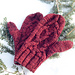 Red riding mittens pattern