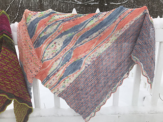 Knit with Black Trillium Lilt Sock and Sweet Tea Yarns Sweet Sock